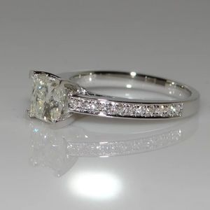 Sterling stamped 925 Silver white sapphire ring